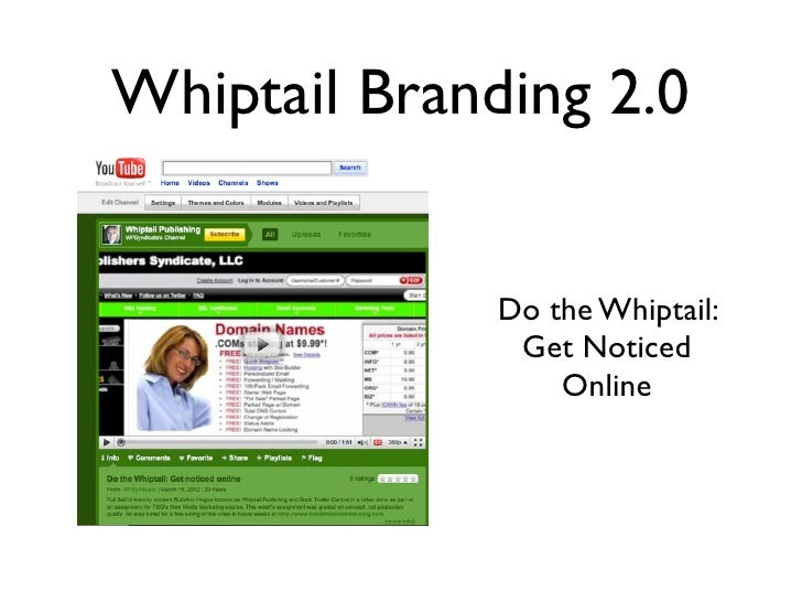 Whiptail Branding 2.0                 Do the Whiptail:                Get Noticed                   Online