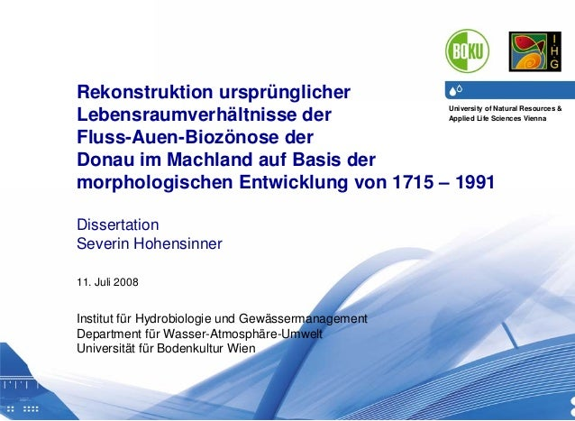11.07.2008 1 University of Natural Resources & Applied Life Sciences Vienna Department of Water, Atmosphere & Environment ...