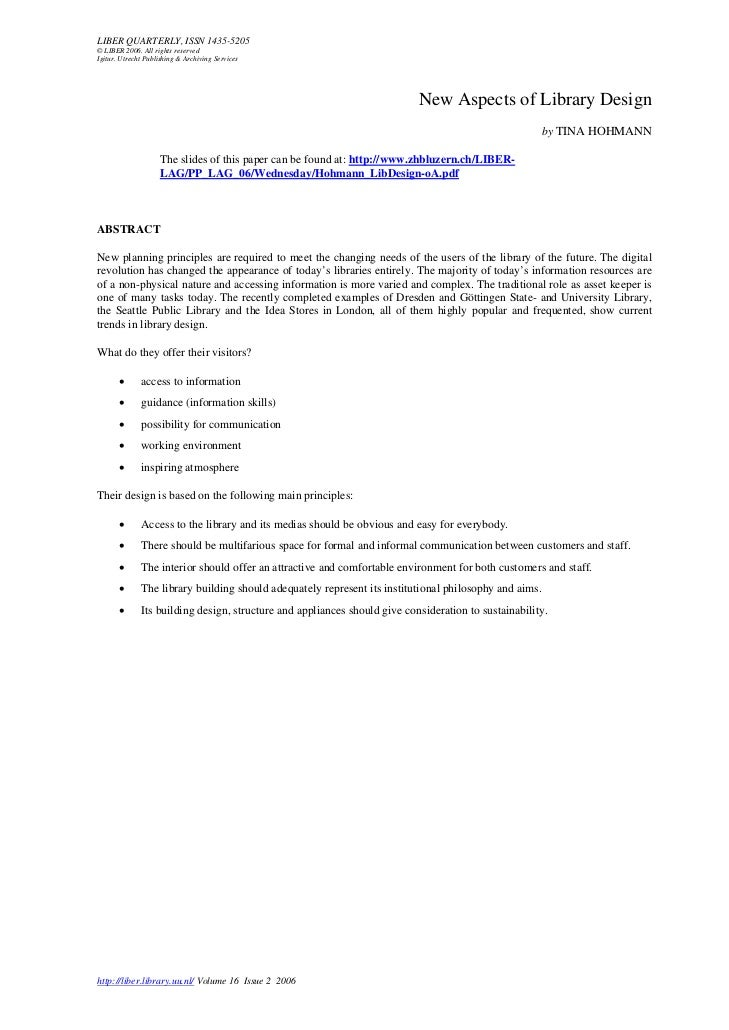 LIBER QUARTERLY, ISSN 1435-5205© LIBER 2006. All rights reservedIgitur. Utrecht Publishing & Archiving Services           ...