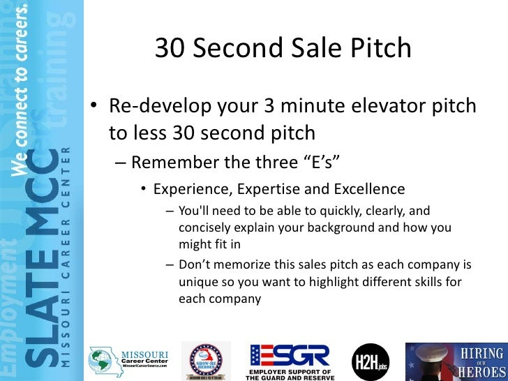 3 minute sales pitch examples