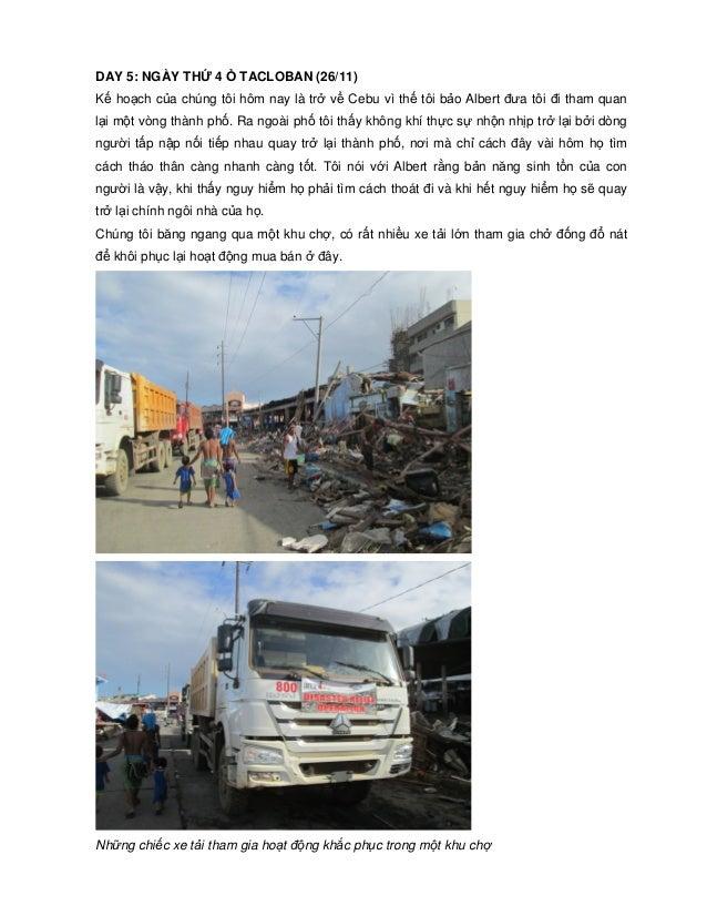 DAY 5: NGÀY TH  4  TACLOBAN (26/11)  K ho ch c a chúng tôi hôm nay là tr v Cebu vì th tôi b o Albert ưa tôi i tham quan l ...