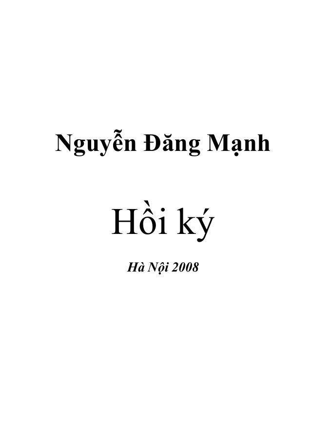Nguyễn Đăng Mạnh    Hồi ký     Hà Nội 2008