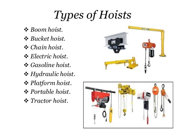 Types Of Lifting Equipment