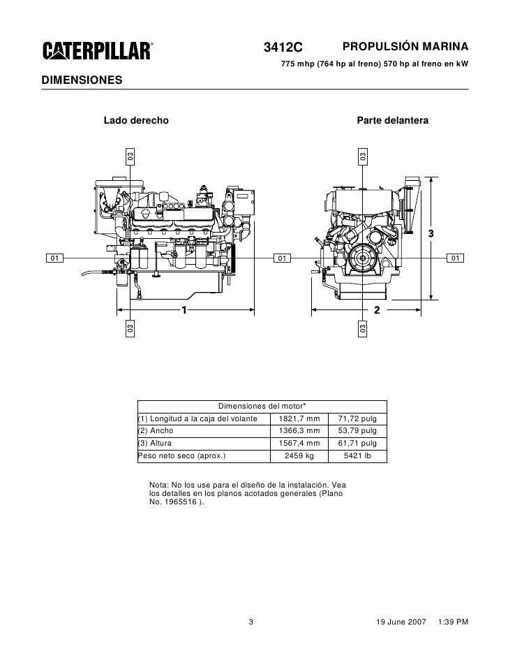 hoja especificacion 3412 750 hp