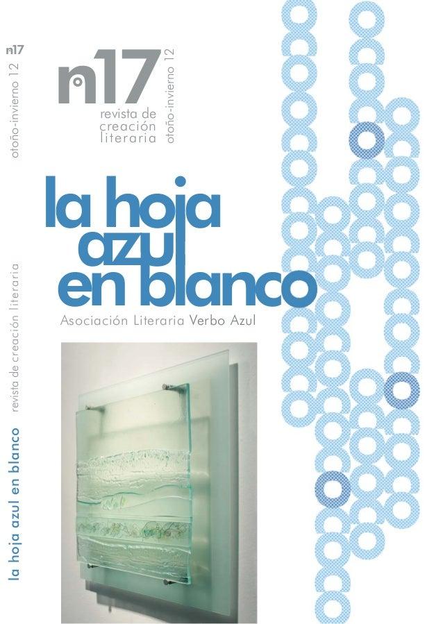 Hoja Azul en Blanco nº17 de Verbo Azul