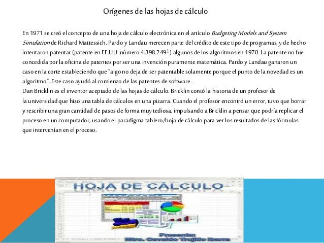 Hoja de calculo Slide 2