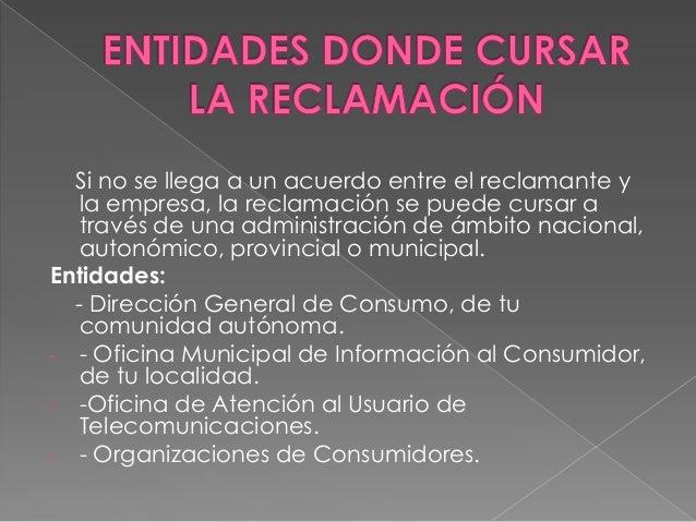 Quejas y reclamaciones - Oficina atencion al consumidor ...