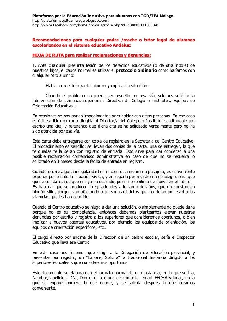 Plataforma por la Educación Inclusiva para alumnos con TGD/TEA Málagahttp://plataformatgdteamalaga.blogspot.com/http://www...