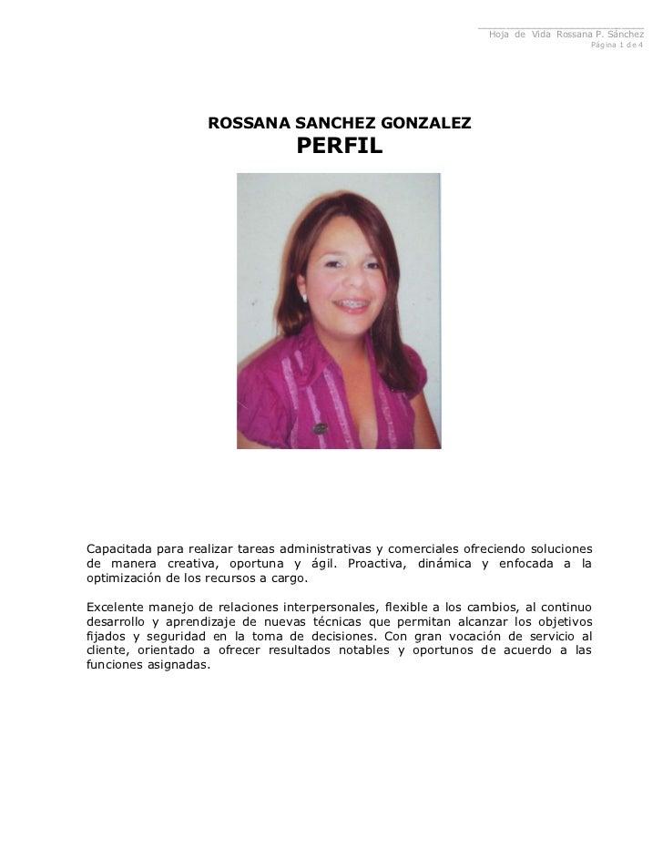 ______________________________                                                                  Hoja de Vida Rossana P. Sá...