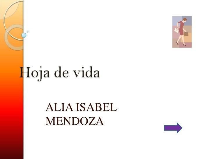 Hoja de vida   ALIA ISABEL   MENDOZA