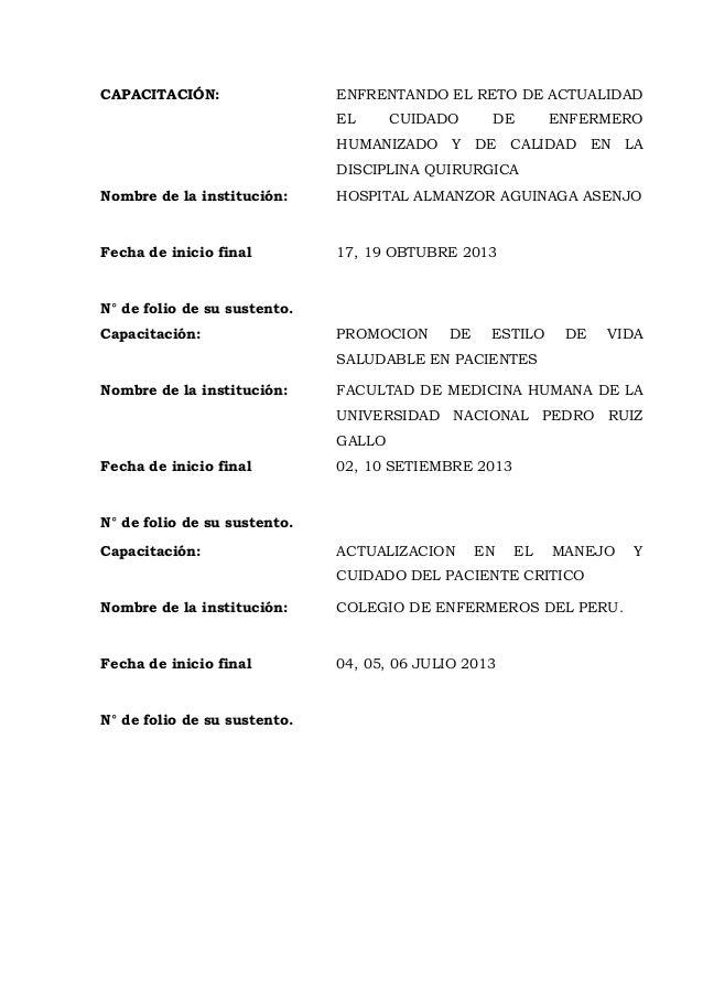 CAPACITACIÓN: ENFRENTANDO EL RETO DE ACTUALIDAD EL CUIDADO DE ENFERMERO HUMANIZADO Y DE CALIDAD EN LA DISCIPLINA QUIRURGIC...