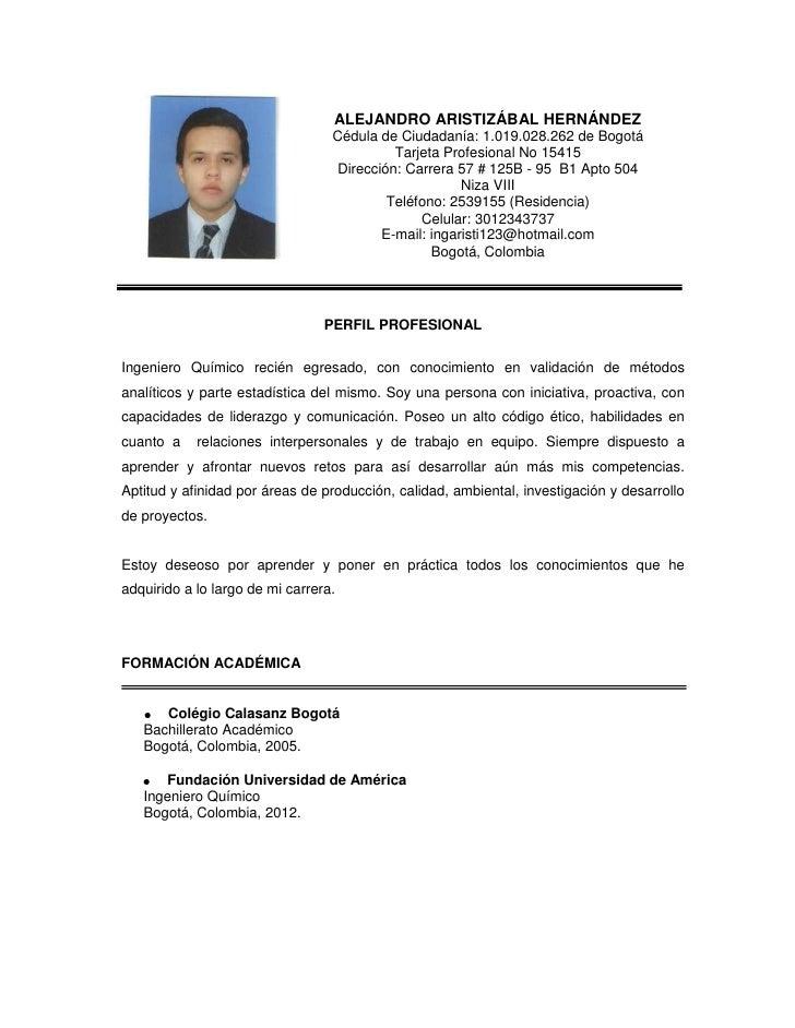 ALEJANDRO ARISTIZÁBAL HERNÁNDEZ                                  Cédula de Ciudadanía: 1.019.028.262 de Bogotá            ...
