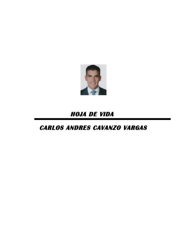 HOJA DE VIDA CARLOS ANDRES CAVANZO VARGAS