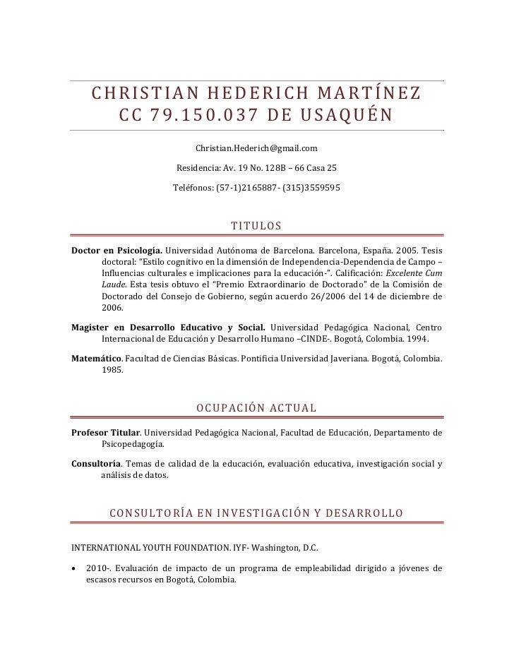 CHRISTIAN HEDERICH MARTÍNEZ        CC 79.150.037 DE USAQUÉN                                Christian.Hederich@gmail.com   ...