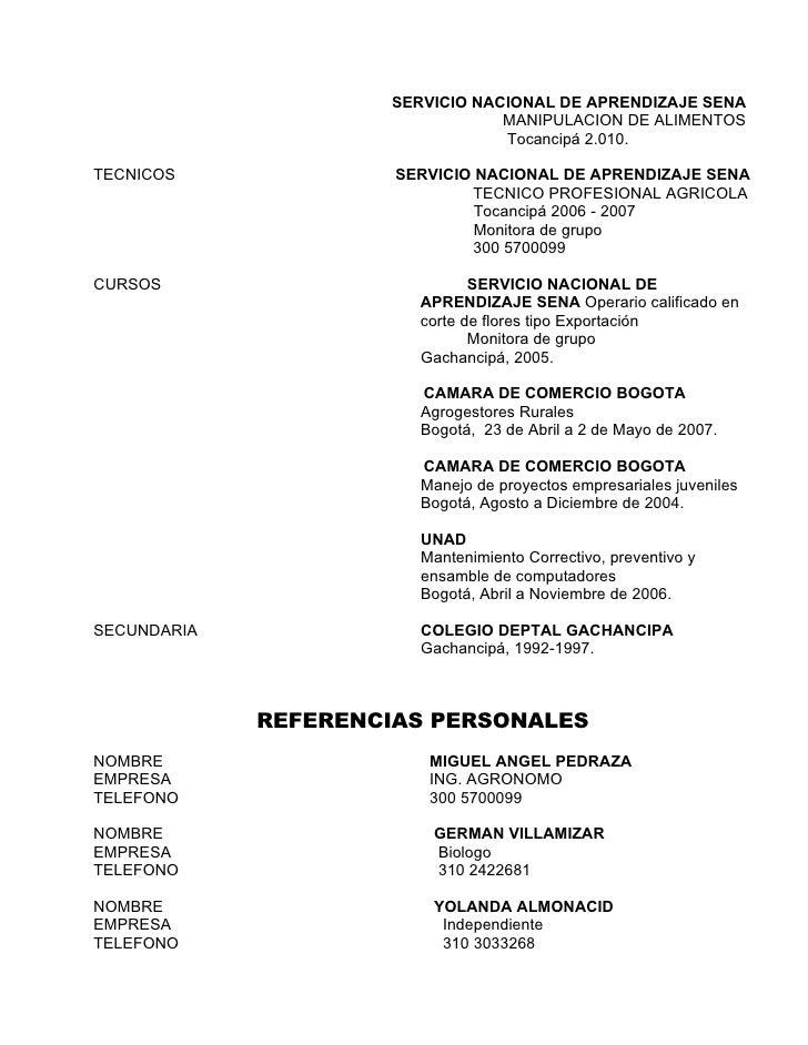 SERVICIO NACIONAL DE APRENDIZAJE SENA                                 MANIPULACION DE ALIMENTOS                           ...