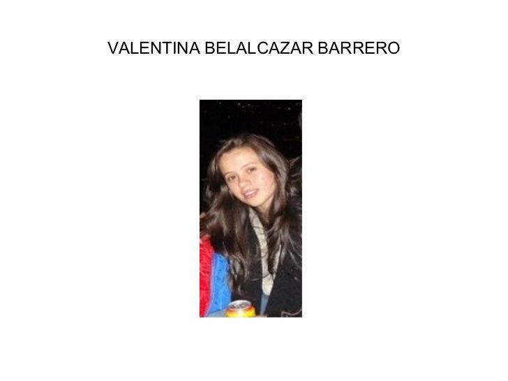 VALENTINA BELALCAZAR BARRERO