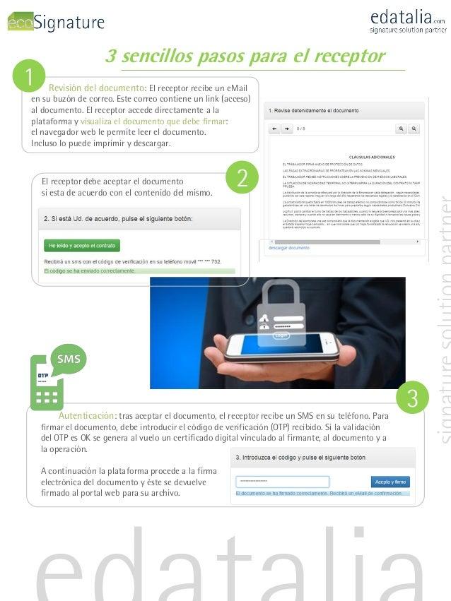 3 sencillos pasos para el receptor Revisión del documento: El receptor recibe un eMail en su buzón de correo. Este correo ...