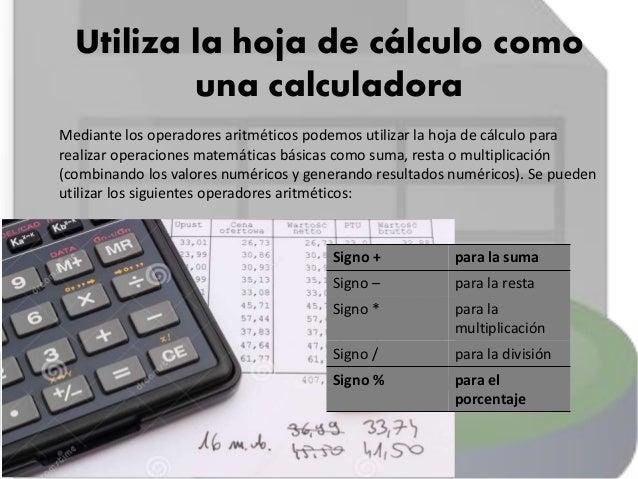 Hojas de calculo.. tic