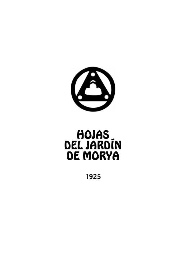 HOJAS DEL JARDÍN DE MORYA 1925