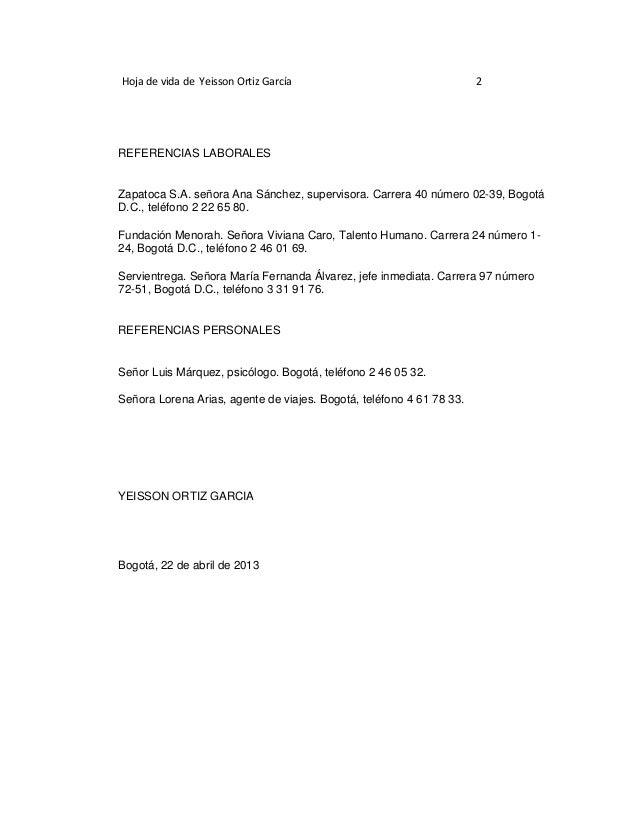 cartas de referencia laborales