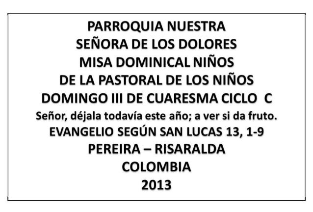 Hojita evangelio domingo iii cuaresma c bn