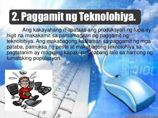 5. Pagbibigay-prayoridad sa sektor ng industriya. Isa sa mga nagpahina sa kalagayan ng agrikultura ayon kina Habito at Bri...