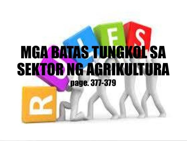 3. BATAS REPUBLIKA BILANG 1160 Nakapaloob dito ang pagtatatag sa National Resettlement and Rehabilitation Administration (...