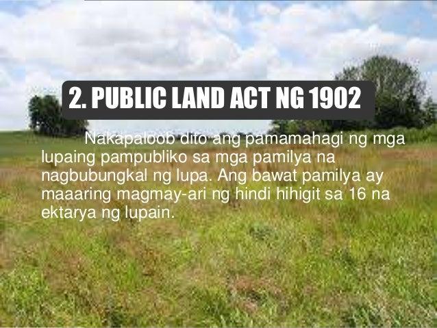 5. AGRICULTURAL LAND REFORM CODE Ito ay simula ng isang malawakang reporma sa lupa na nilagdaan ng dating Pangulong Diosda...