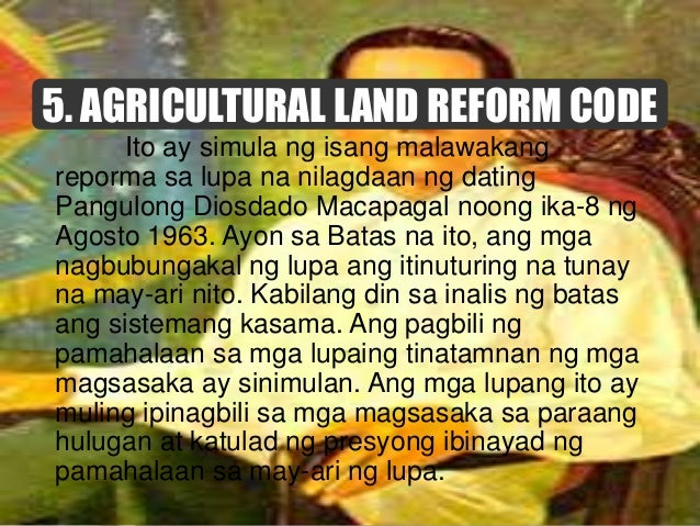 Kilala sa tawag na Comprehensive Agrarian Reform Law (CARL) na inaprobahan ni dating Pangulong Corazon Aquino noong ika-10...