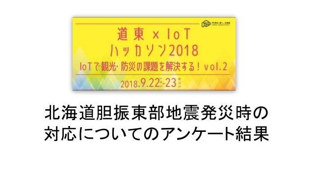北海道胆振東部地震発災時の 対応についてのアンケート結果