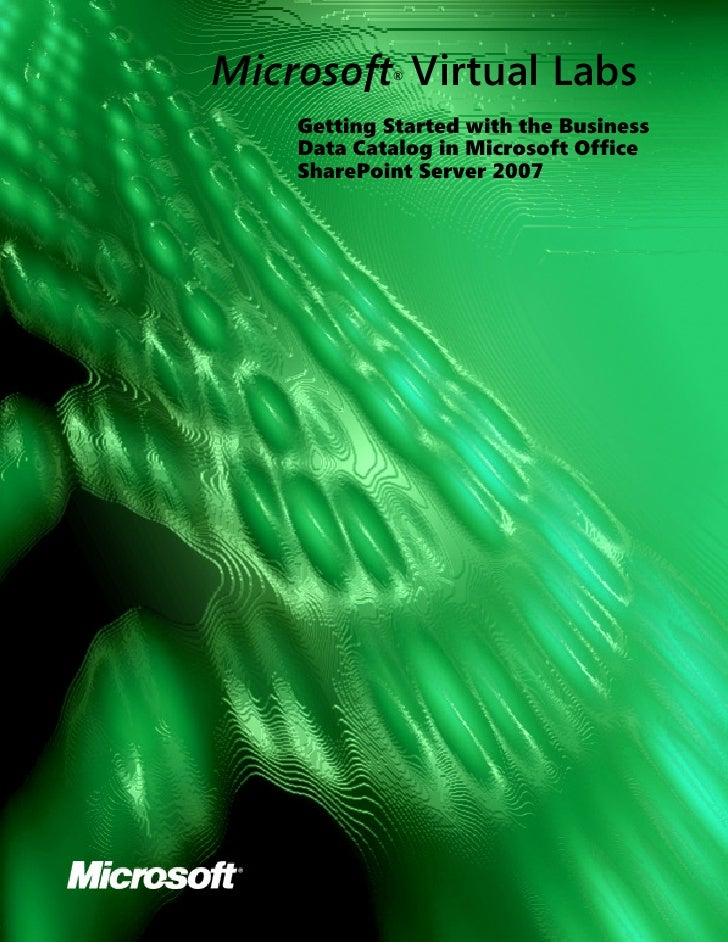 Microsoft Virtual Labs             ®        Getting Started with the Business     Data Catalog in Microsoft Office     Sha...