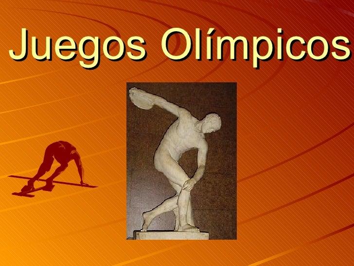 Juegos Olimpicos Power Point