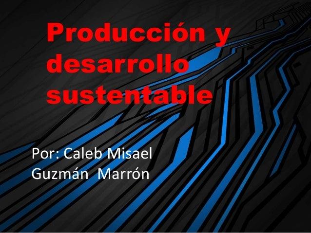 Producción y desarrollo sustentable Por: Caleb Misael Guzmán Marrón