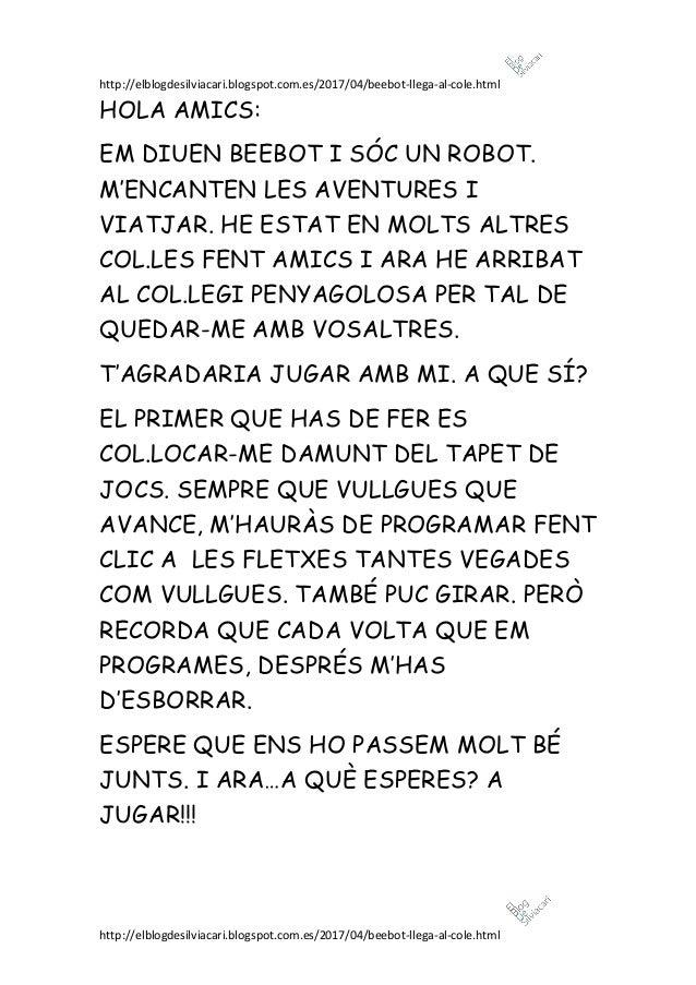 http://elblogdesilviacari.blogspot.com.es/2017/04/beebot-llega-al-cole.html http://elblogdesilviacari.blogspot.com.es/2017...