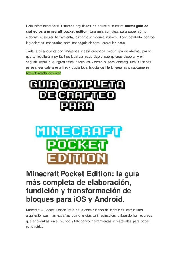 Hola infominecrafters guia minecraft