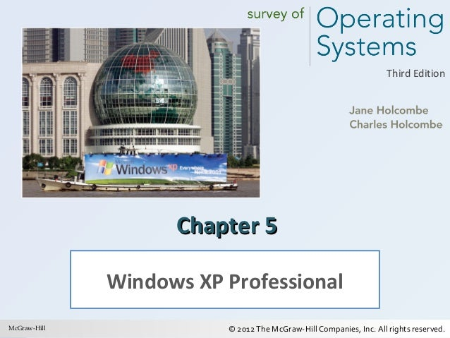 Third Edition  Chapter 5 Windows XP Professional McGraw-Hill 1  © 2012 The McGraw-Hill Companies, Inc. All rights reserved...
