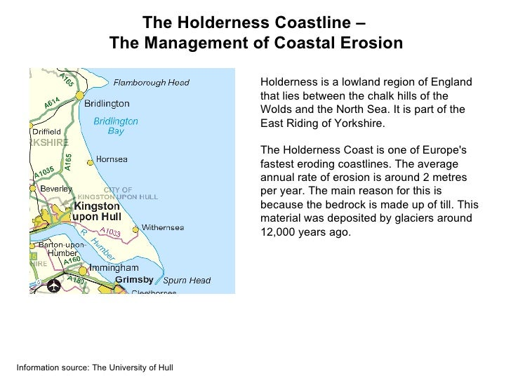 The Holderness Coastline –                        The Management of Coastal Erosion                                       ...