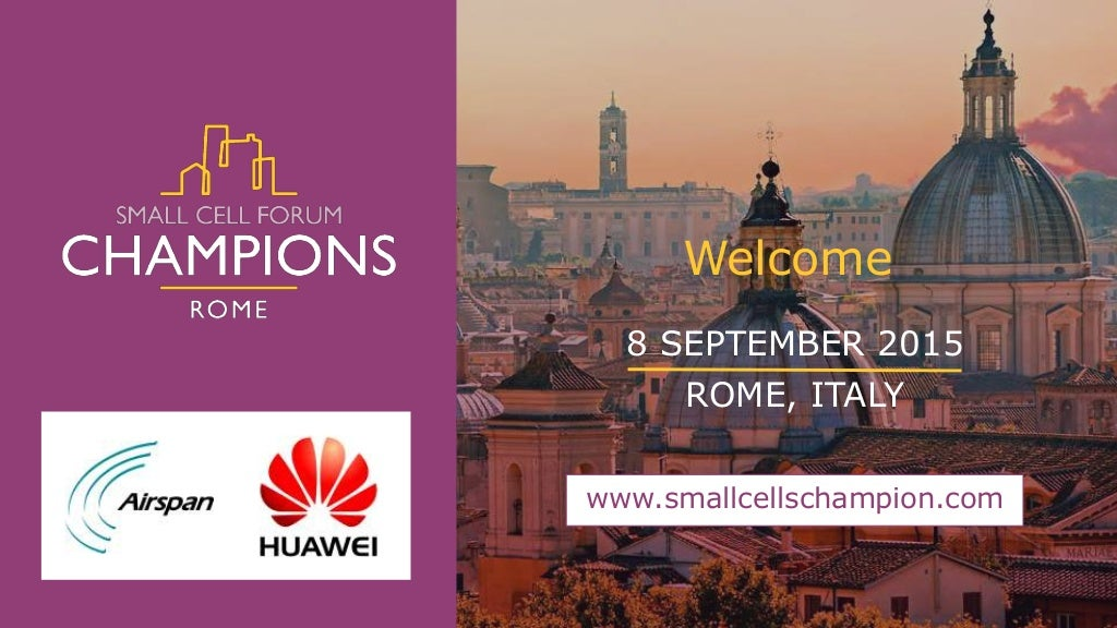 3G4G Small Cells Blog: Summary of Small Cell Forum Champions day