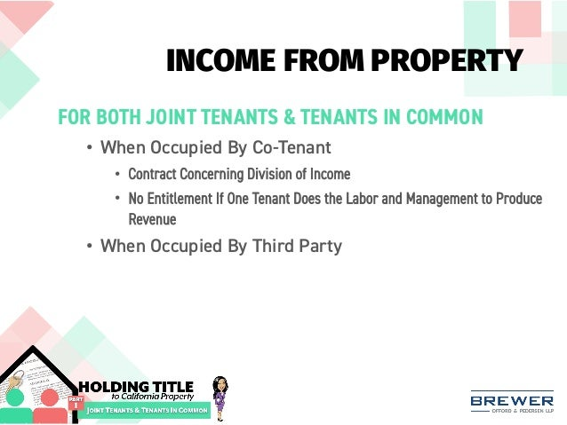 investment property joint tenants in common
