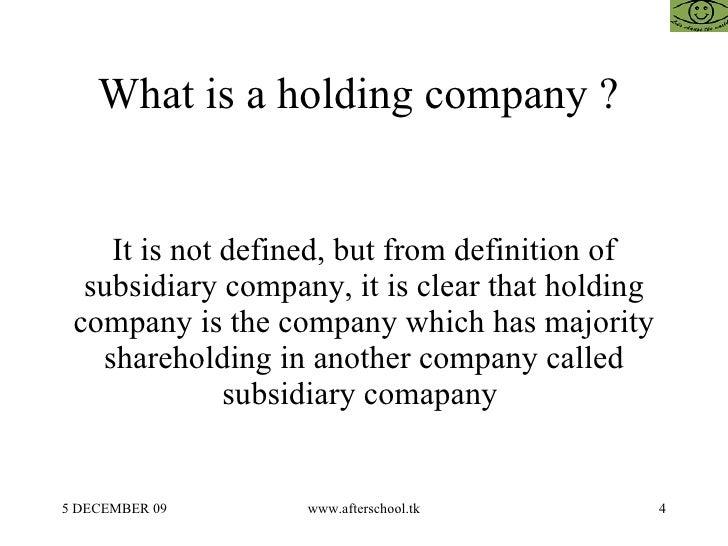 Holding Company And Subsidiary Company Accounting Perspective
