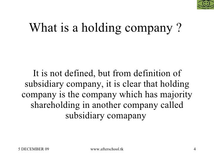 holding and subsidiary company relationship in india