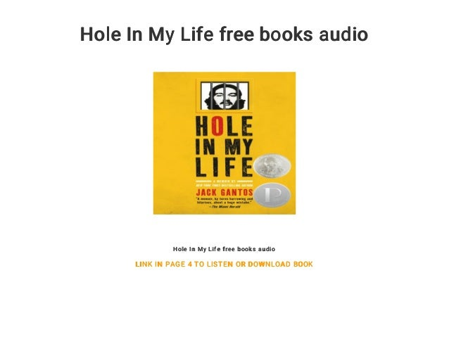 hole in my life by jack gantos audio