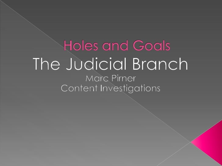 Holes and Goals<br />The Judicial Branch<br />Marc Pirner<br />Content Investigations<br />