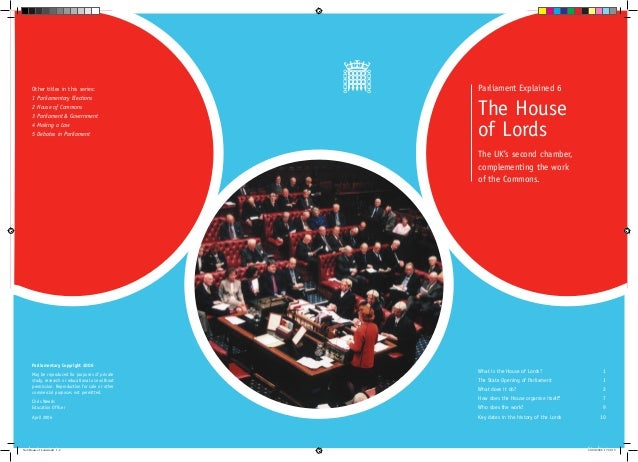 Other titles in this series:                 Parliament Explained 6      1 Parliamentary Elections      2 House of Commons...