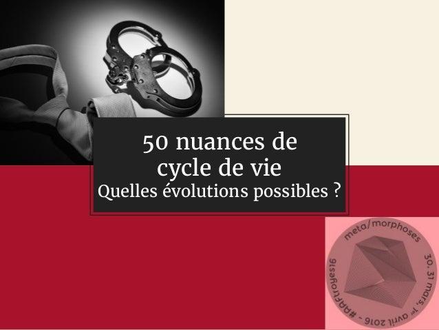 50 nuances de cycle de vie Quelles évolutions possibles ?