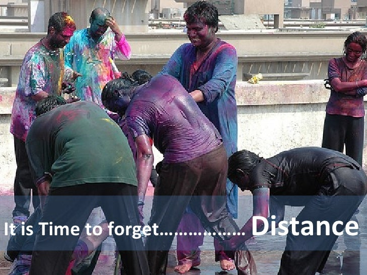 It is Time to forget………………  Distance