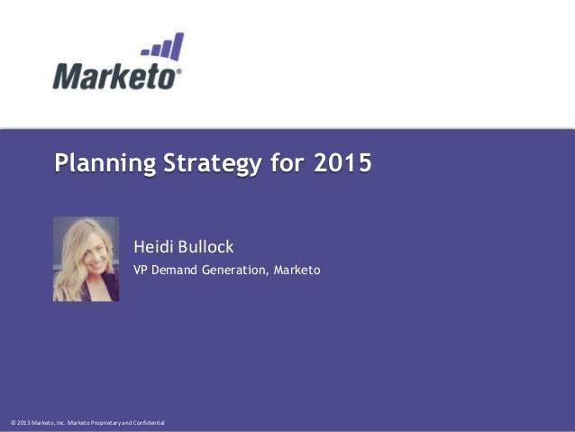 Planning Strategy for 2015 - Heidi Bullock