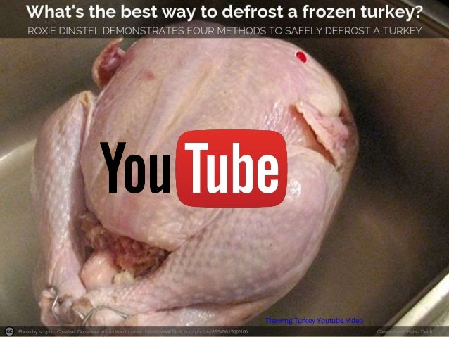 Thawing Turkey Youtube Video  Photo by srqpix - Creative Commons Attribution License https://www.flickr.com/photos/8554961...
