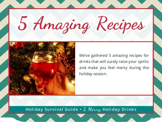 5 Amazing Recipes  5 Fantastic  We've gathered 5 amazing recipes for drinks that will surely raise your spirits and make y...