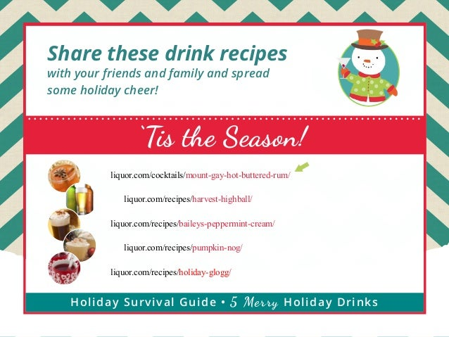 Share these drink recipes with your friends and family and spread some holiday cheer!  'Tis the Season! liquor.com/cocktai...